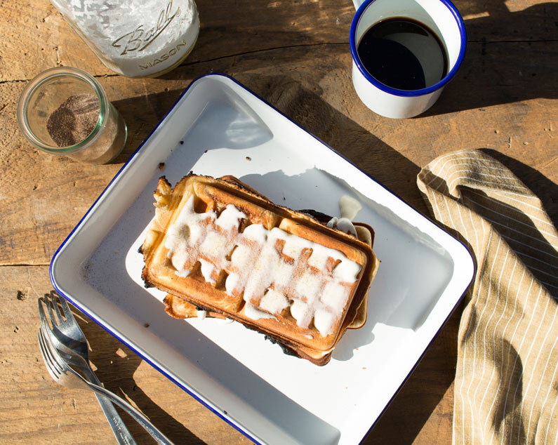 Smores paninis grilled with a pie iron